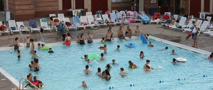 Swimmers in the Monona Community Pool