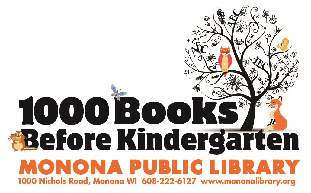 1000 Books Before Kindergarten folder sticker
