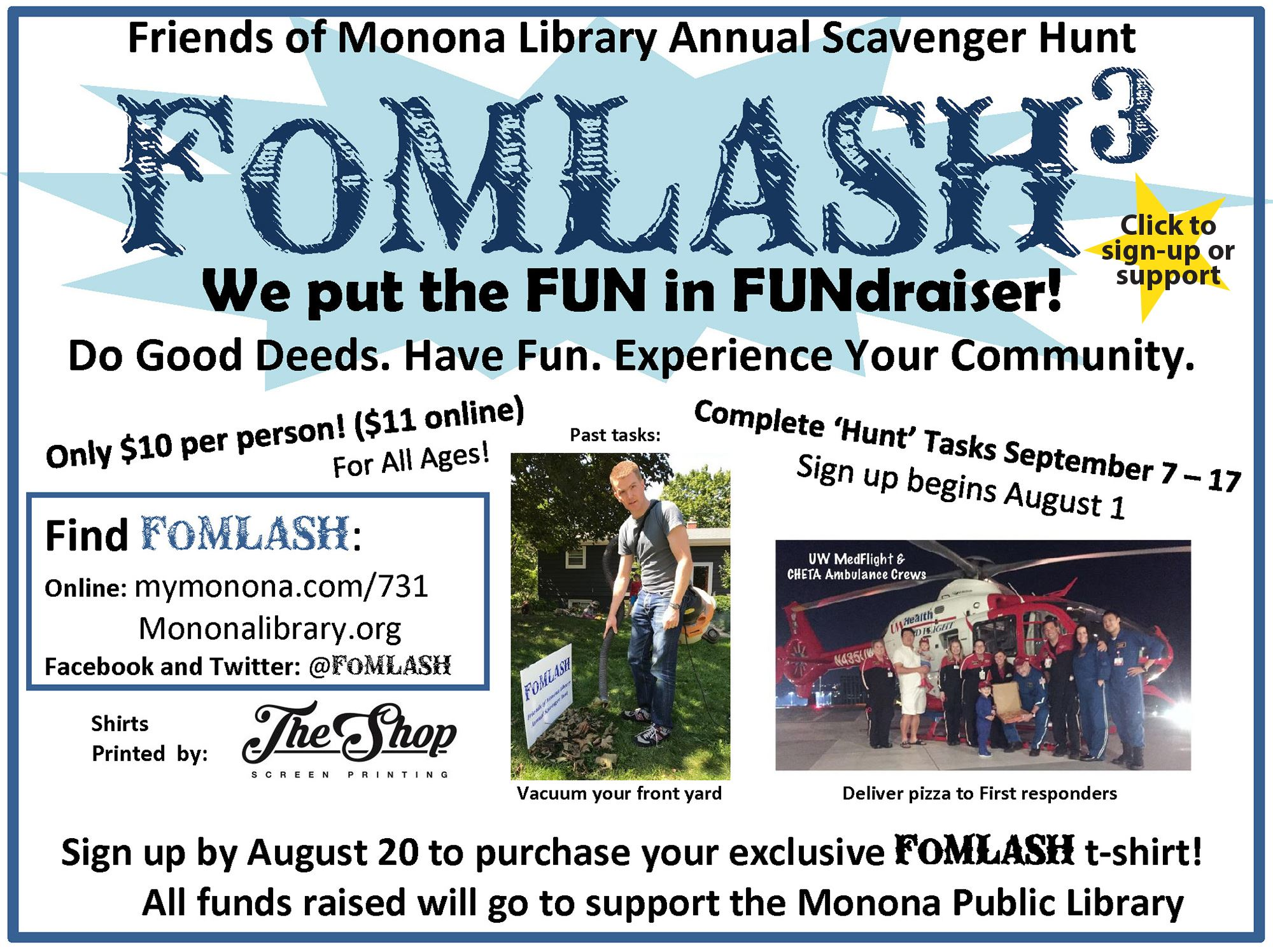 2018 Poster Friends of Monona Library Annual Scavenger Hunt
