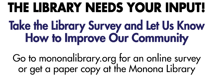 Take the Monona Library's Survey