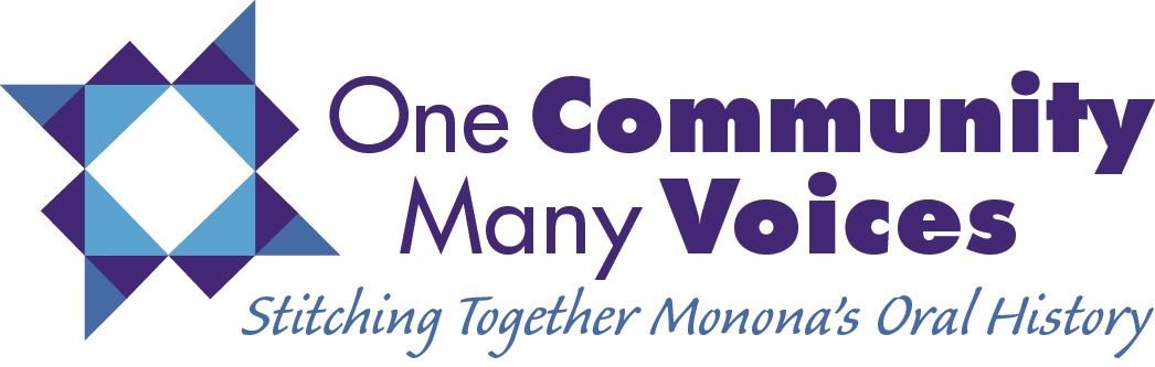 One Community Many Voices Logo  and Tagline_Final_Color
