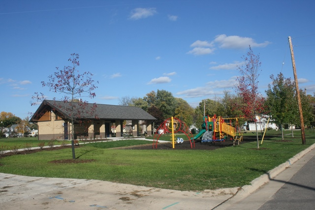 shelter with playground